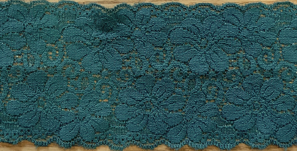 Deep Sea Green Stretch Lace...