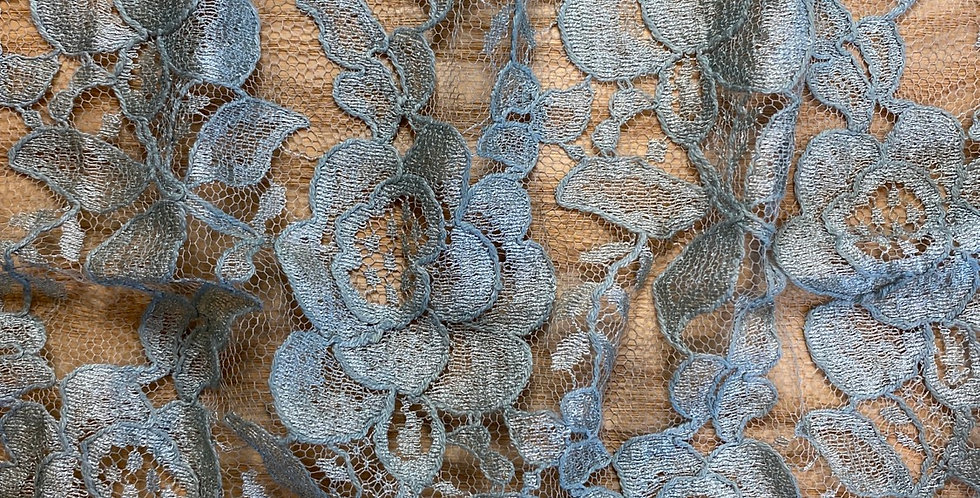hand dyed french lace remnant