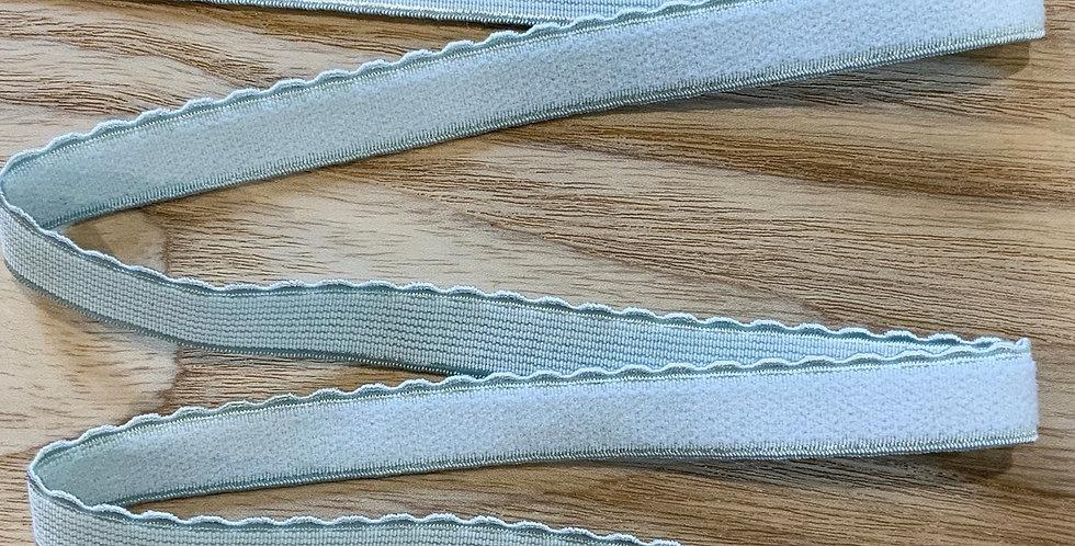 Seafoam Hand Dyed Scallop Edge Elastic...