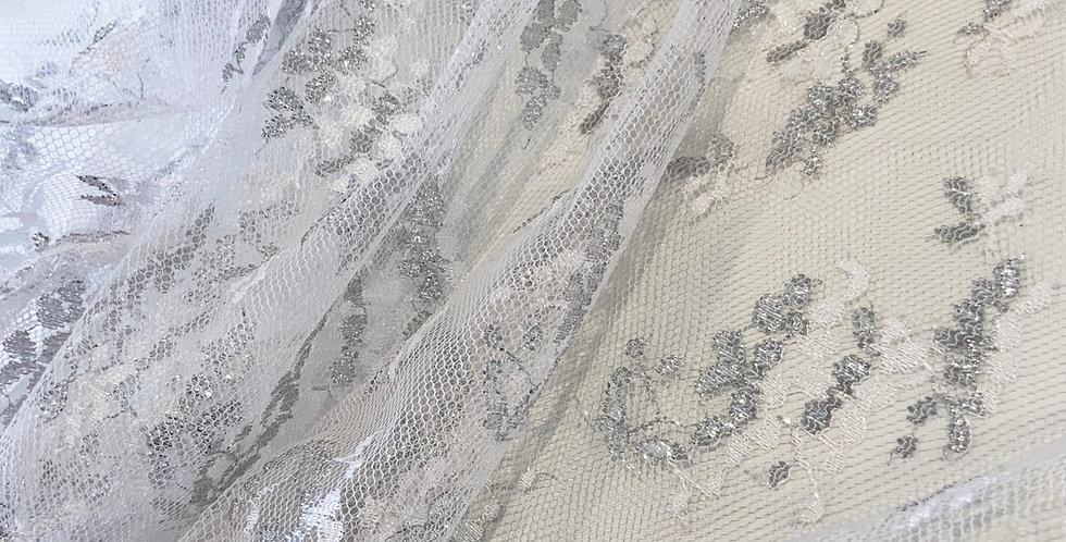 White Silver Lace Piece #3050