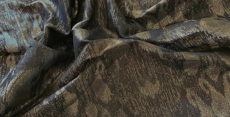 Evening Batik Metallic Brocade Remnant