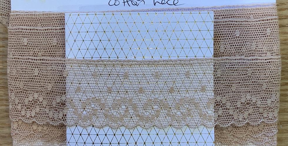 Vintage English Cotton Lace Remnant...