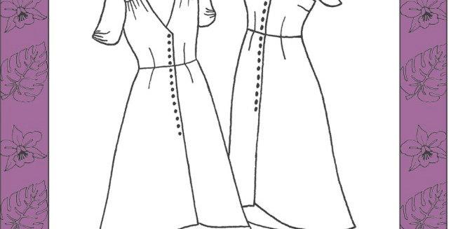 Nina lee Kew dress printed pattern