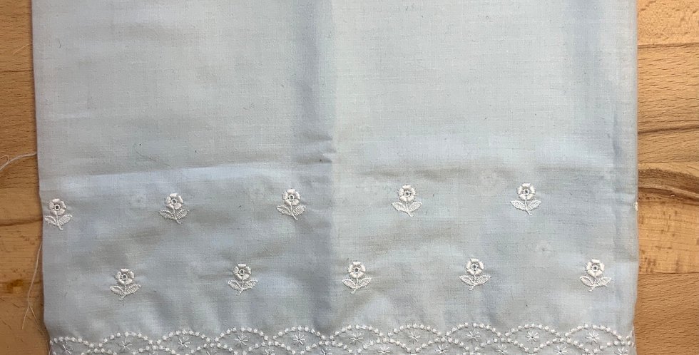 Blue Vintage Swiss Embroidered Broderie Anglaise