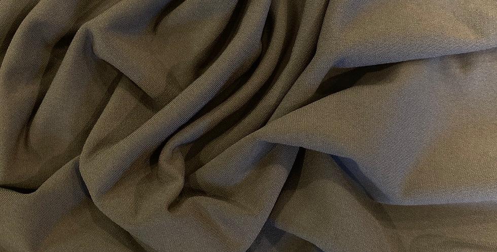 dark khaki poly jersey remnant