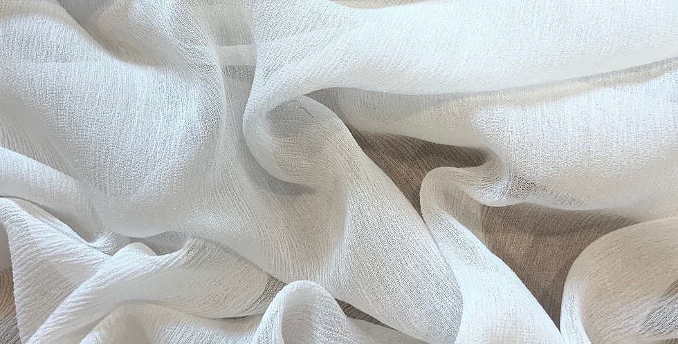 White Crinkle Viscose Georgette....