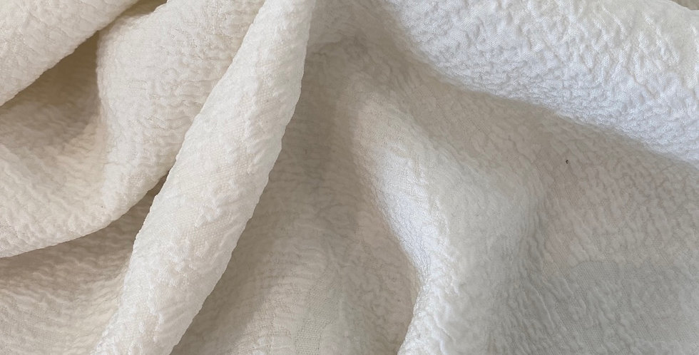 Ivory textured woven with stretch
