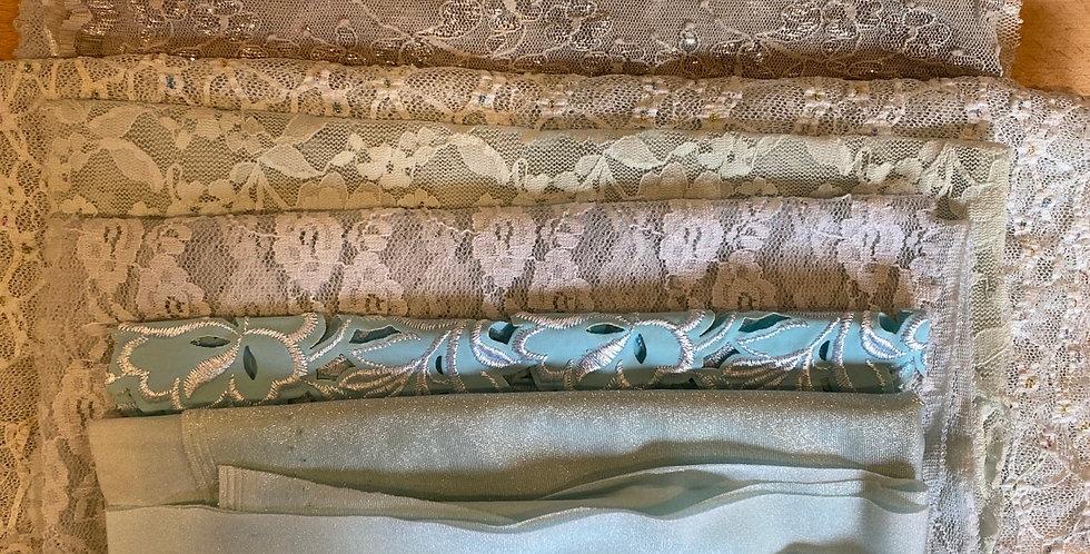 sea foam lingerie fabric off cuts pack