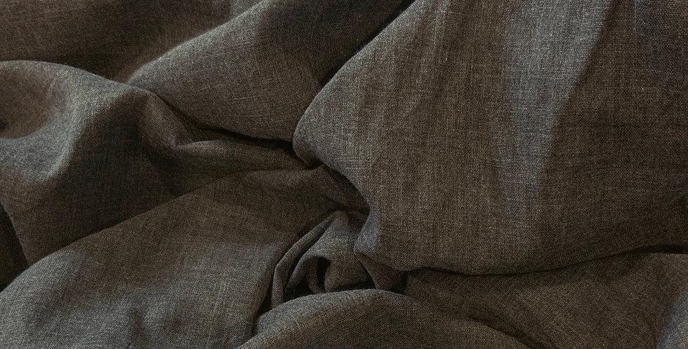 Dark Grey Marle Polyester Voile Remnant...