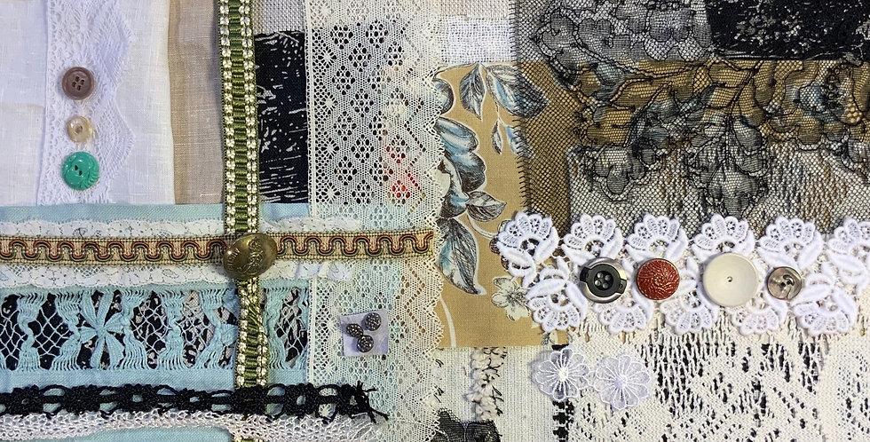 Slow Stitching Vintage Textiles Pack #11