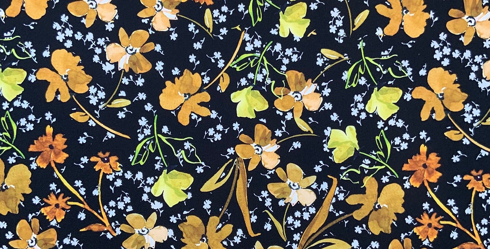 Spring Bloom Polyester Crepe....