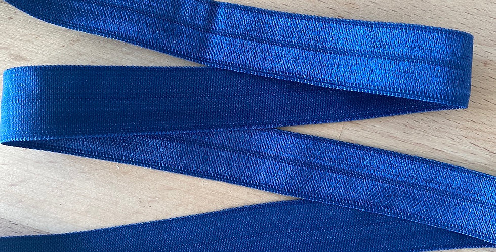 Navy 15mm fold over elastic