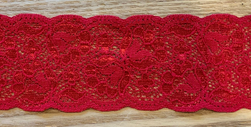 Bright Red Stretch Lace...