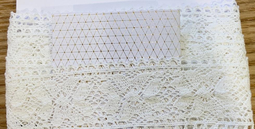 White Cotton Crochet Lace...
