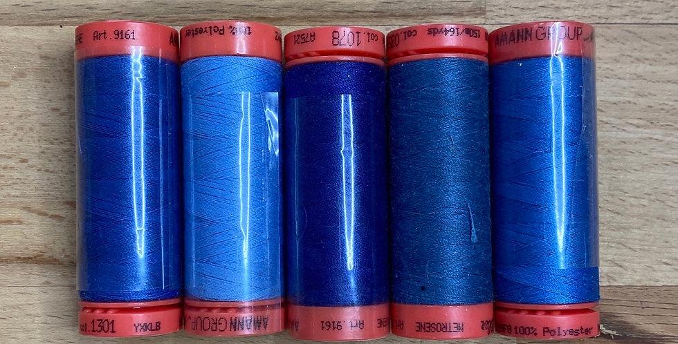 Metrosene Mixed Blue Thread Pack #4