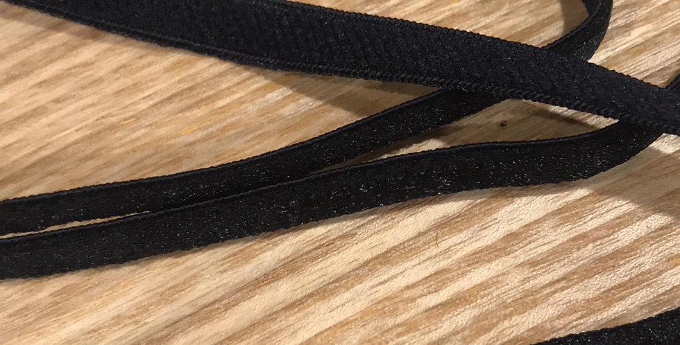 Shiny black strapping