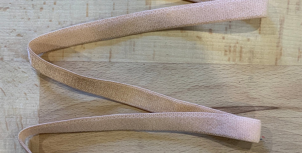 Pale Sienna Hand Dyed 10mm Lightweight Strapping Elastic