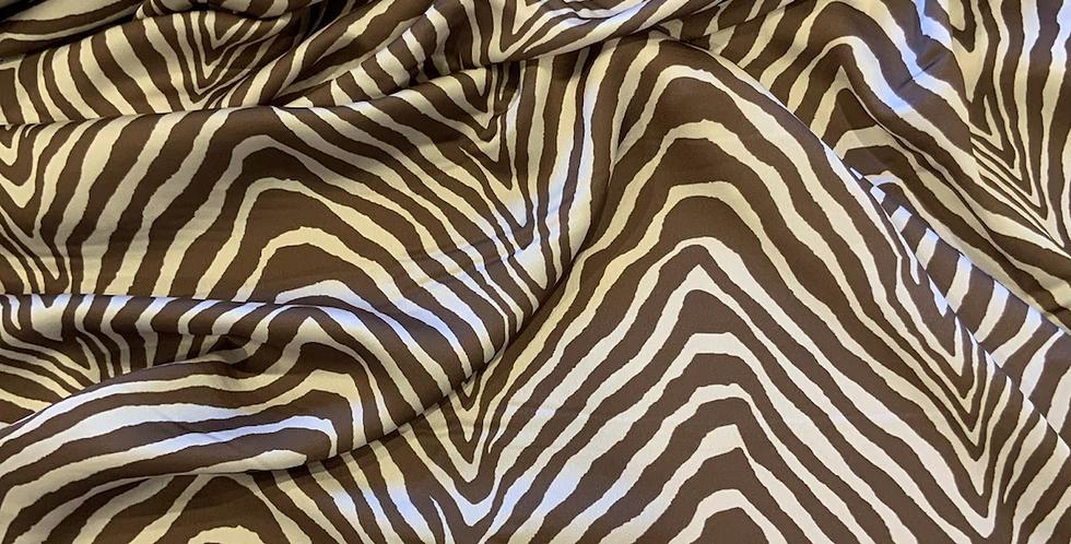Mocha Zebra Lightweight Satin...