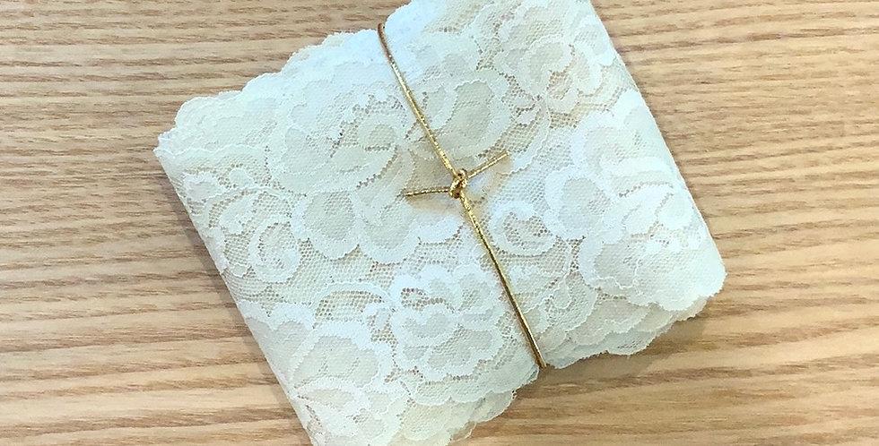 5mtr Bundle Cream Roses Vintage Lace...