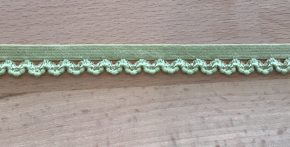 Lime Hand Dyed Picket Edge Elastic....