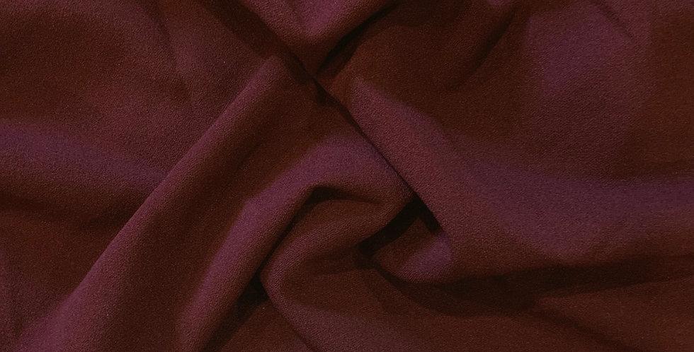 Burgundy Crepe Knit Remnant