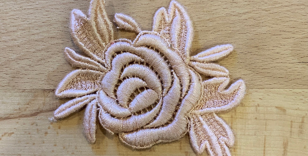 Pale Sienna rose motif
