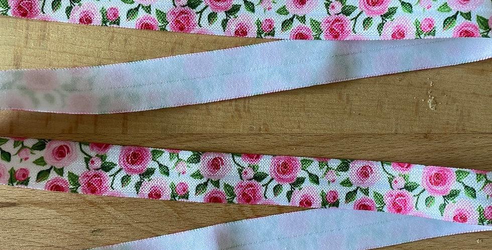 Rose garden fold over elastic