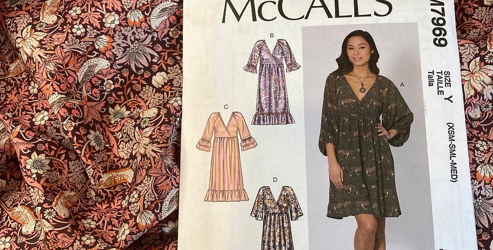 Liberty organic tana lawn mccall's 7969 dress kit