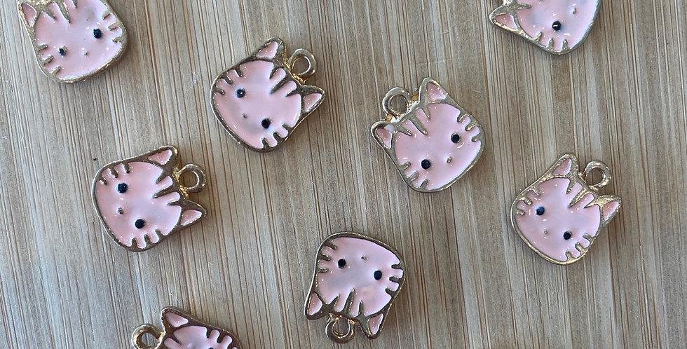 Pink cat charm