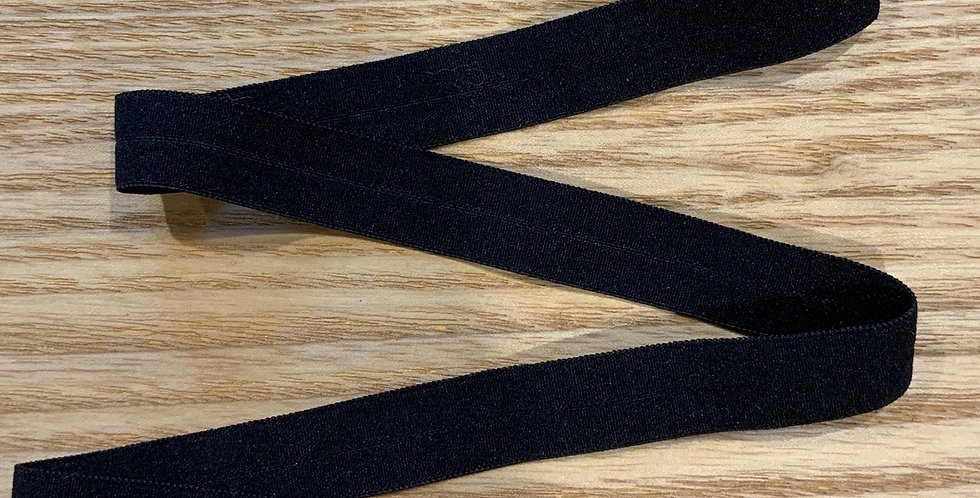 Black Soft Touch 12mm Matte Foldover Elastic....