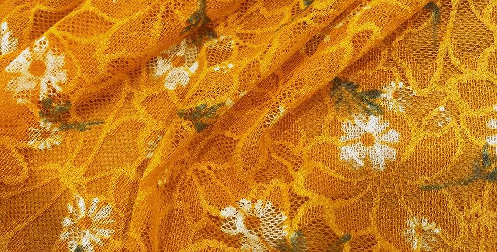 golden daisy stretch lace