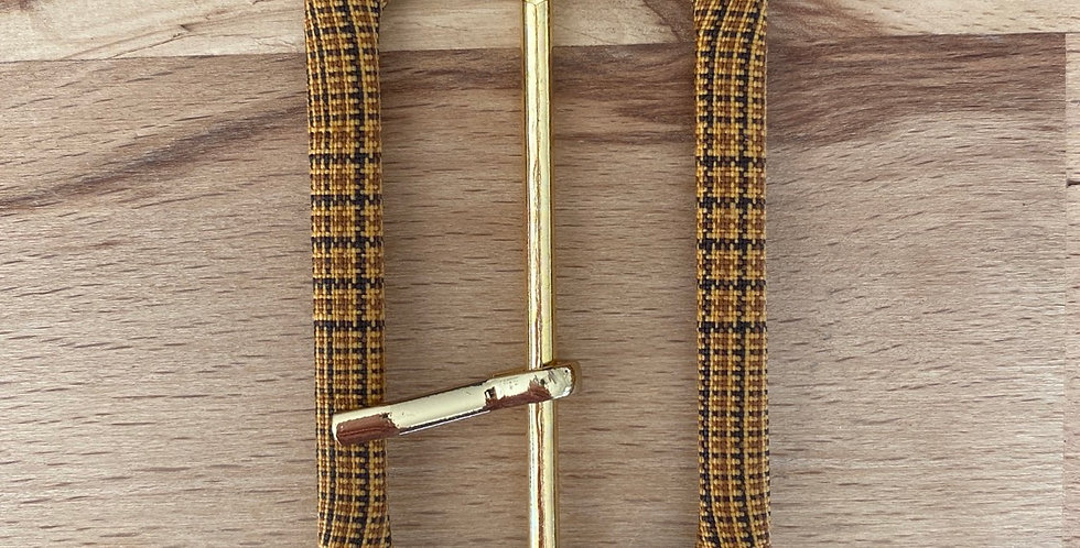 Highland check buckle