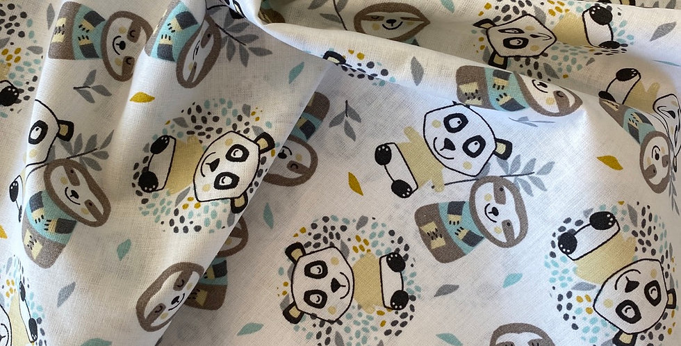 Panda friends French cotton