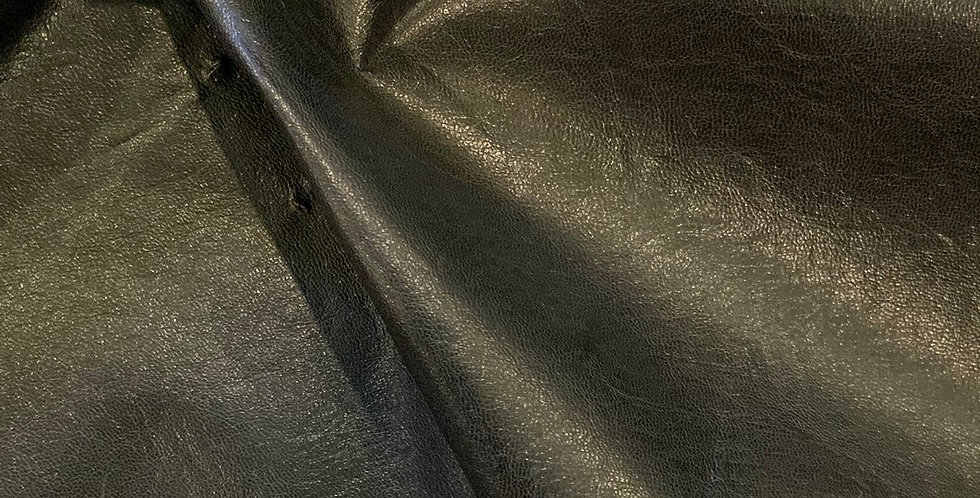 Black Pvc Coated Brushed Cotton Stretch Twill Remnant