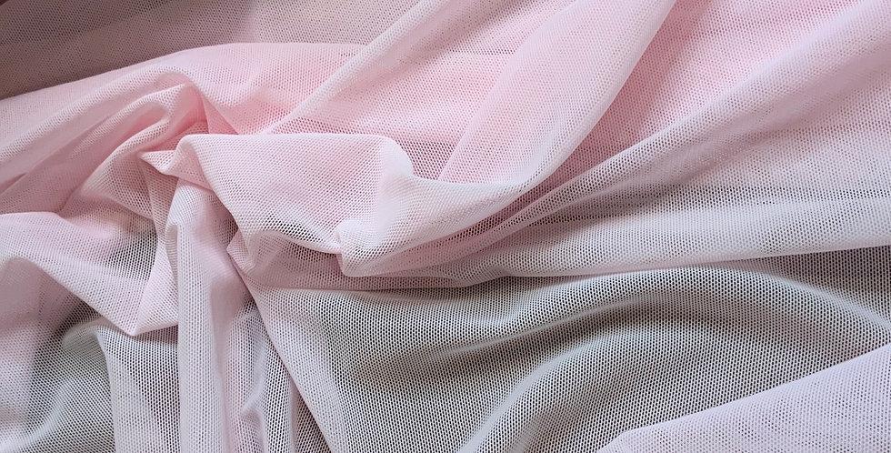 Powder Pink 4 Way Stretch Lingerie Mesh