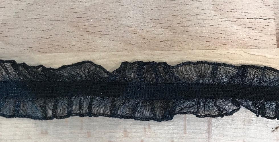 Black Double Frill Elastic...