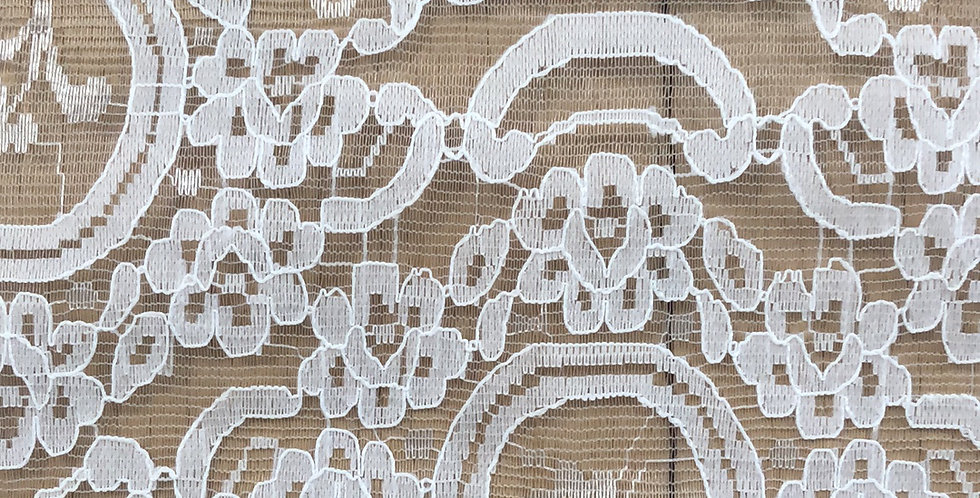 Baroque white lace trim