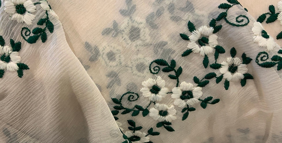 Prairie Embroidered Silk Chiffon....