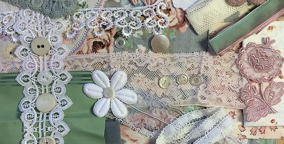 Pastel florals Slow Stitching Pack…