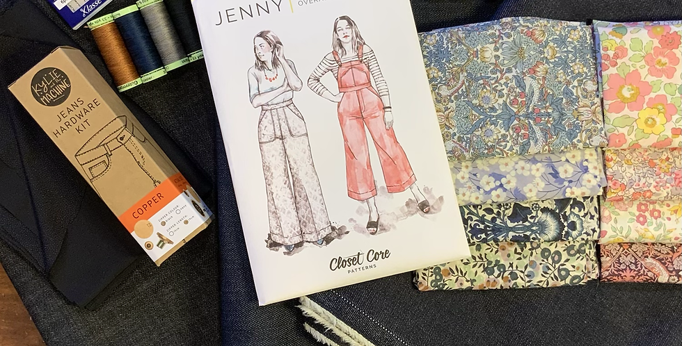 Jenny overalls starter kit *liberty lining