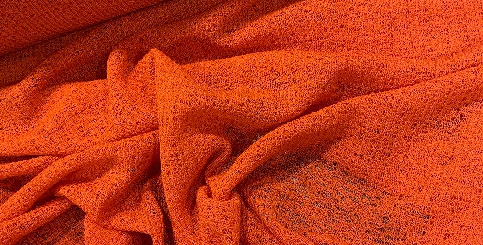Drift Orange Citrus textured Polyester Knit