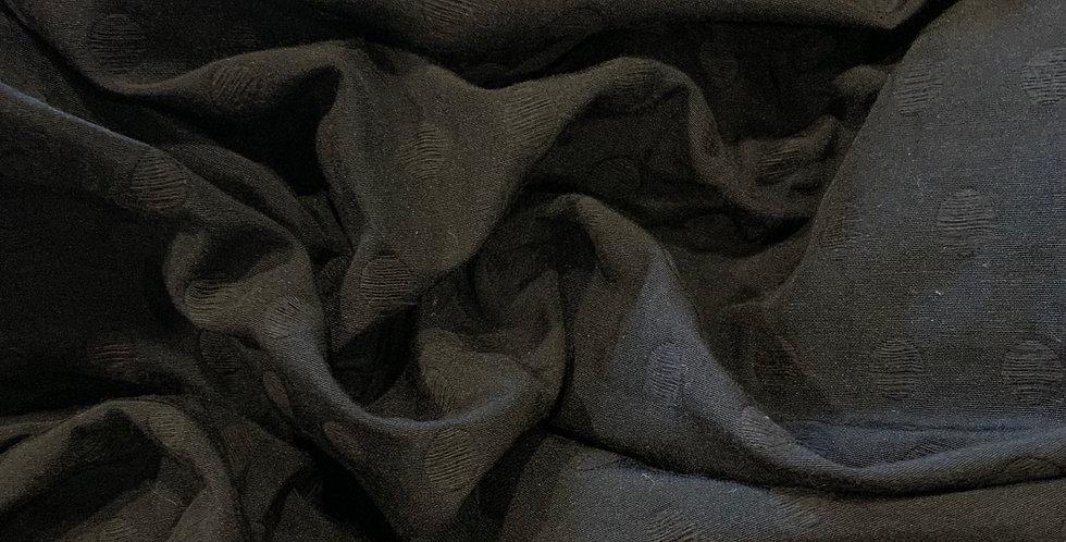 Black Spots Jacquard Weave Poly Cotton Blend...