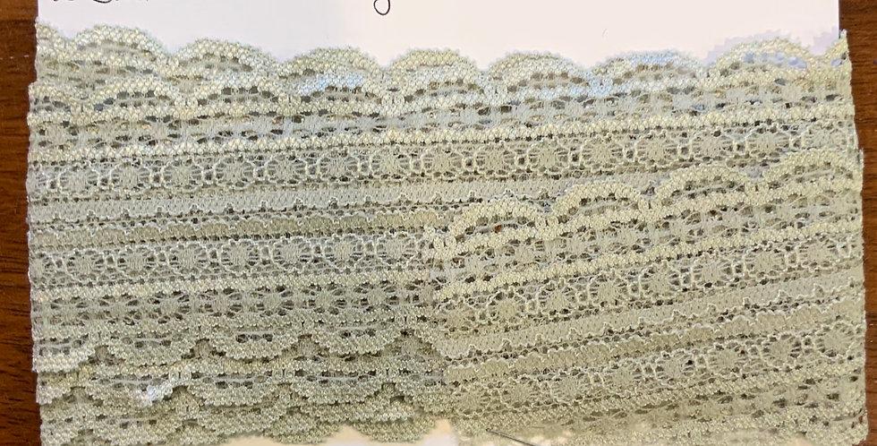 Sage Stretch Lace 2.6mtr piece
