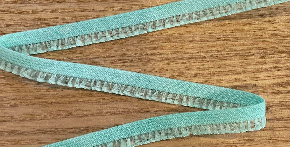 Mint Hand Dyed Petite Organza Frill Picot Elastic...