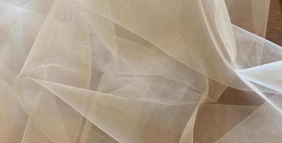 Pale Gold Polyester Organza 3mtr Bundle...