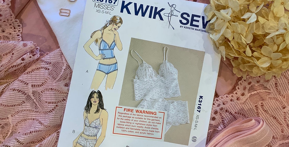 Rose Pink Lace Camisole and Pants Kit...