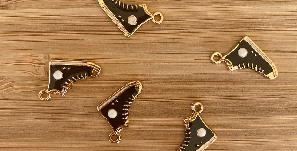 Black high top sneaker charm