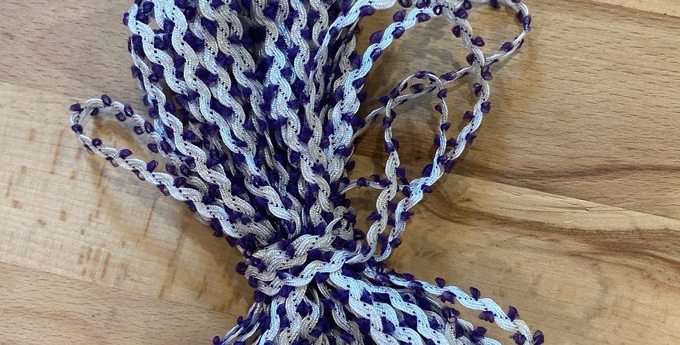 10 metre bundle mini ricrac purple