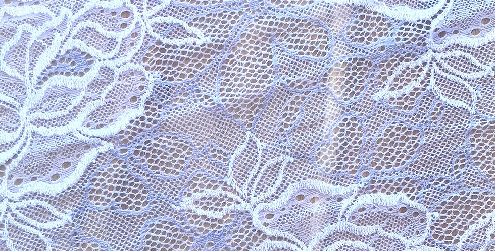 Lilac Dreams Hand Dyed Stretch Lace...