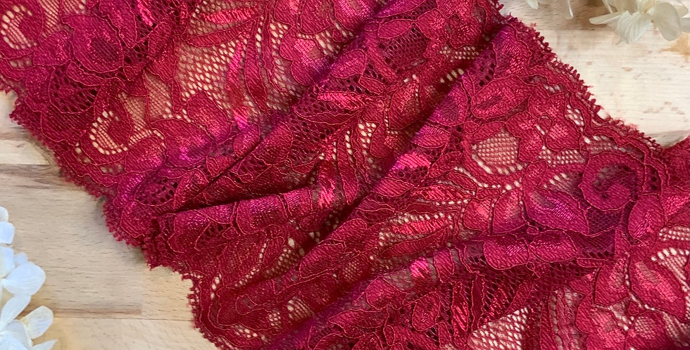 1.8mtrs Dark Red Stretch Lace